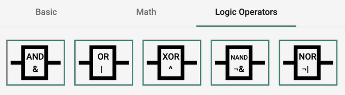 Example of different symbols for Ladder Programming with Arduino